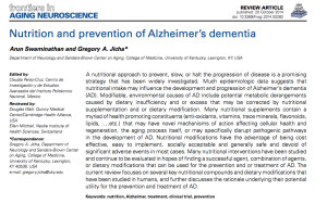 Nutrition and Alzheimers